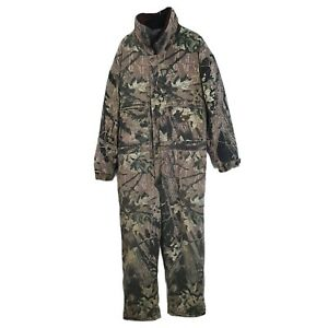 Cabela 1 Piece Coverall Hunting Suit Quilted Realtree Camo Mens Large Regular