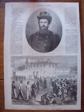 General Grant and exercise of negroes recruits...wood engraving...1864