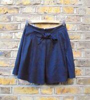 Sandro Paris Women's Black Pleated Flare Short Mini Skirt Size UK 8 W 28