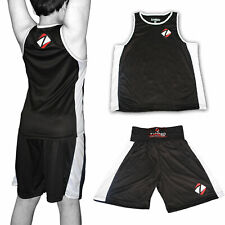 Boxing Vest and Shorts Set Kids Gym Training Fitness Men Kick Top MMA Fabric