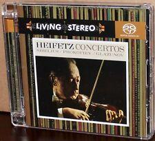 RCA SACD: Sibelius, Prokofiev, Glazunov - Violin Concertos - HEIFETZ, 2005 USA