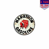 Marathon Gas 4 Stickers 4x4 Inch Sticker Decal