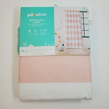 "Pillowfort Panel Pink Twill Light Blocking Curtain 42"" x 84"""