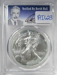 2017-W Silver Eagle Dollar PCGS SP70 1st Strike David Hall Coin AI623