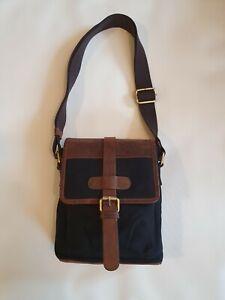 NEW Men's waxed canvas / hunter bag by Hammond & Co Black brown manbag