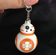 New Star Wars BB-8 Light Up LED Torch With sound Keyring KeyChain UKYS193