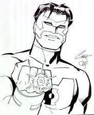 Green Lantern: Kyle Rayner - 2007 Signed art by Chris Marrinan Comic Art