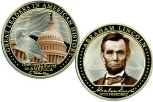 ABRAHAM LINCOLN GREAT LEADER COMMEMORATIVE COIN PROOF VALUE $129.95