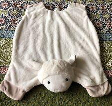 Pbk Pottery Barn Kids Lamb Ply Blanket Floor Mat Plush Sheep Loveywhite