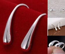 2018 Women Fashion New Arrival Shining Teardrop Hook In Silver Earrings