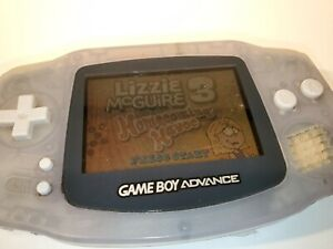 Nintendo Game Boy Advance GBA Clear Glacier - AGB-001 - Please See Description