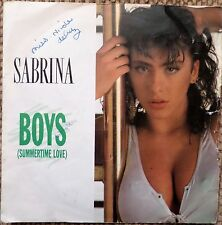 "SABRINA - BOYS (Summertime Love) 7"" VINYL SINGLE EX/EX"
