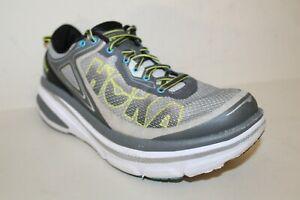 Hoka One One Bondi 4 Men's Running Shoes Sneakers Sz 9.5 2E US Gray No Insoles