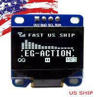 "US 0.96"" I2C IIC Serial 128X64 LED OLED LCD  Display Module for Arduino White"