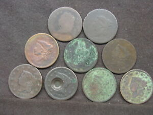 u.s large cents lot