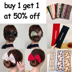 Women Lazy Hair Curler Magic Convenient Clip Ladies Wire Bow Hairpin Hair Band