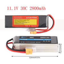 3S 11.1V 2800mah 30C XT60 RC Lipo Battery 8034106B For Car Helicopter Airplane