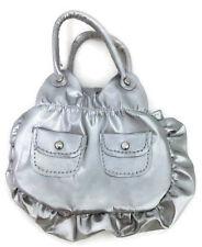 "Silver Purse Handbag with Zipper for 18"" American Girl Doll Clothes"