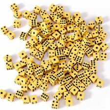 Yellow Family Party Board Games Square Point Dice Dice 6 Sided Dice Game Toys
