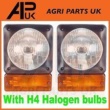 PAIR JCB Loadall Telehandler Headlight Headlamp Indicator assembly Halogen Bulb