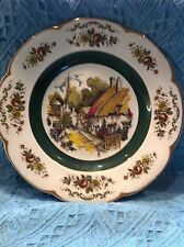 NOS PRINCESS HOUSE ASCOT SERVICE PLATE BY WOOD AND SONS THATCHED COTTAGE PLATE