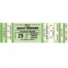 NIGHT RANGER Concert Ticket Stub PORTLAND OREGON 9/29/87 THE BIG LIFE TOUR Rare