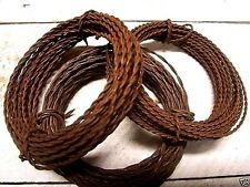 3 rolls Rusty Tin TWISTED WIRE 20 & 22 gauge - crafts