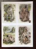 "Erotica-Comic Suzanne Ballivet ""Sex Initation Amoreuse"" Heliogravur 1950"