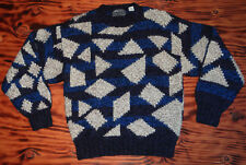 80s Vintage Wool Sweater Geometric 3 Colors 80s Vintage Bill Ditfort Designs