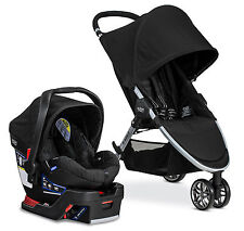 Britax B-Agile 3 Stroller & B-Safe 35 Car Seat Travel System Black Free Tray!!