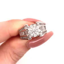 2.00ct Baguette and Round Brilliant Cut Diamond Right-Hand Ring in 14k Gold