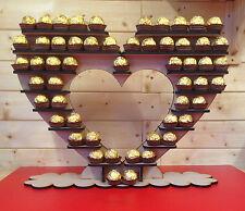 FERRERO CHOCOLATE HEART Large Holds 192 Chocolates Mdf Craft Kit Candy Tree