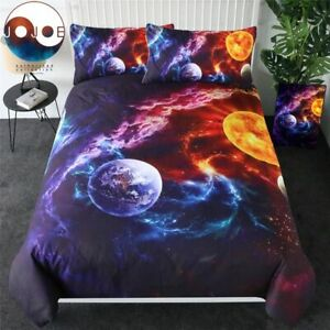 Bedding Set Planet Earth Bedcover Galaxy Nebula Home Textiles Universe Bed Cover