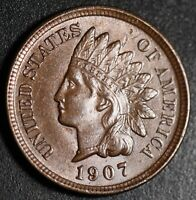 1907 INDIAN HEAD CENT - BU UNC - With CARTWHEELING BROWN MINT LUSTER!