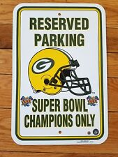 NFL Green Bay Packers Reserved Parking Sign Superbowl XXXI 1996 man cave decor