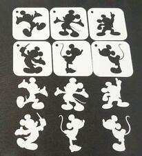 6pcs DISNEY Themed MICKEY MINNIE MOUSE Silhouette Stencils Party Decoration Art