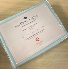 Northern Nights 400Tc Cotton Wrinkle Defense Embroid. Hem Sheets w/ Extra Pillow