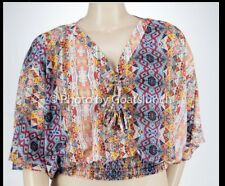 City Chic Boho Festival Hippy Top Size 18 (Medium) New With Tags
