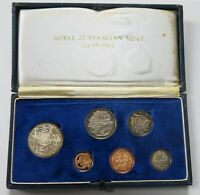 Rare Royal Australian Mint First Year Issue 1966 Proof Decimal Six Coin Set