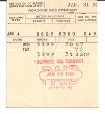 1960 The Roanoke Gas Company Roanoke Virginia R. W. Hall 5th Street