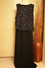 BNWOT Warehouse black scallop beaded evening dress size 12