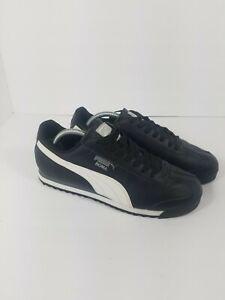 PUMA Roma Basic Classic 35357211 Black White Mens Shoes Sneakers Size 9.5