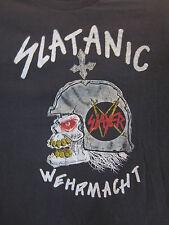 Vintage SLAYER Concert Shirt 1985 SLATANIC WEHRMATCHET Tour Shirt Rare