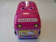 RARE HELLO KITTY PENCIL TIN BUS FROM 2002 WITH WHEELS THAT ROLL