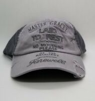Disney Parks - Haunted Mansion Master Gracey Tombstone Baseball Cap Hat NEW TAGS
