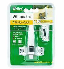 Whitco Whitmatic WINDOW CATCH Automatic Latch- CHROME *Australian Brand
