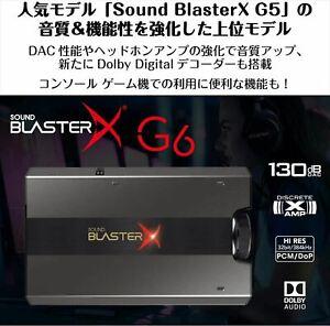 SBX-G6 Reative Ton Blasterx G6 Hochwertig Tragbar Hi-Res Kompatibel Gaming