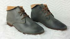 Womens Juil AHI lace-up Ankle Boots Gray Grey Tan Sz 6 Earthing Grounding shoes