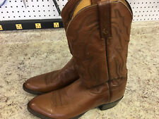 Mens Lucchese 2000 Brown Cowboy Boots - Size 11.5 B - Soft Leather Western 79197