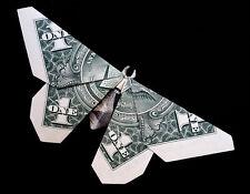 Origami Sculpture Simple BUTTERFLY 3D Money Figurine Handmade Real 1 Dollar Bill